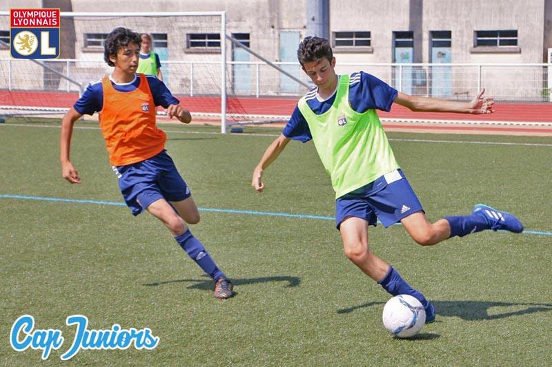 Entrainement lors d'un stage de foot